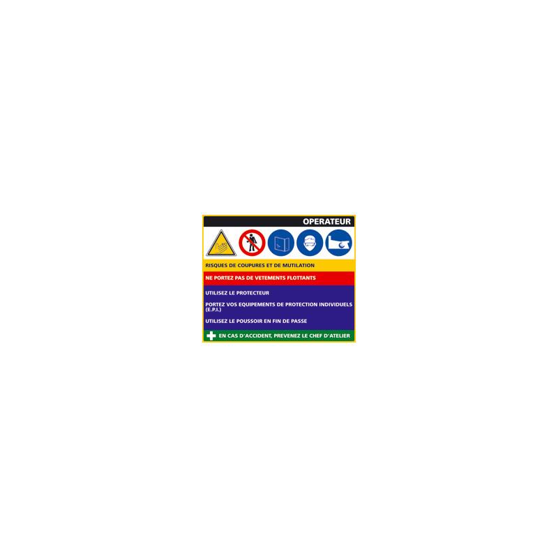 Panneau Fiche de Poste Bain-Marie (C0797)