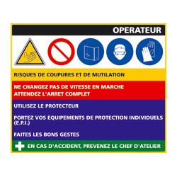 Panneau Fiche de Poste Cuiseur Vapeur (C0798)
