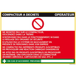 Panneau Fiche de Poste Compacteur Déchets (C0799)