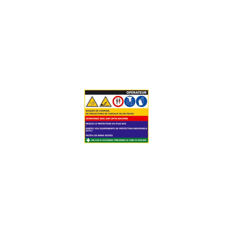 Panneau Fiche de Poste Convoyeur Plateaux (C0800)