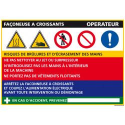Panneau Fiche de Poste Façonneuse Croissants (C0823)