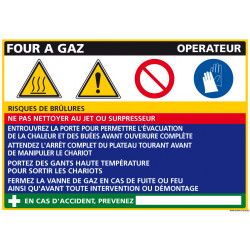 Panneau Fiche de Poste Four Gaz (C0841)