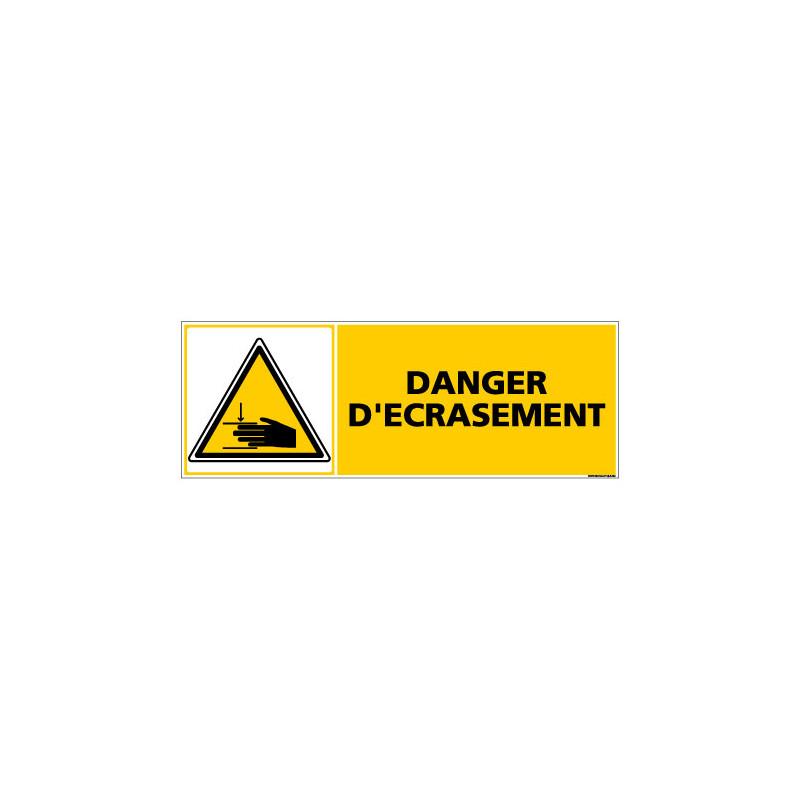 Panneau de Signalisation danger DANGER D'ECRASEMENT (C0355)
