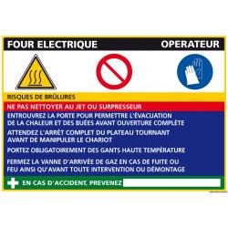 Panneau Fiche de Poste Four électrique (C0842)