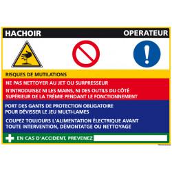 Panneau Fiche de Poste Hachoir (C1085)