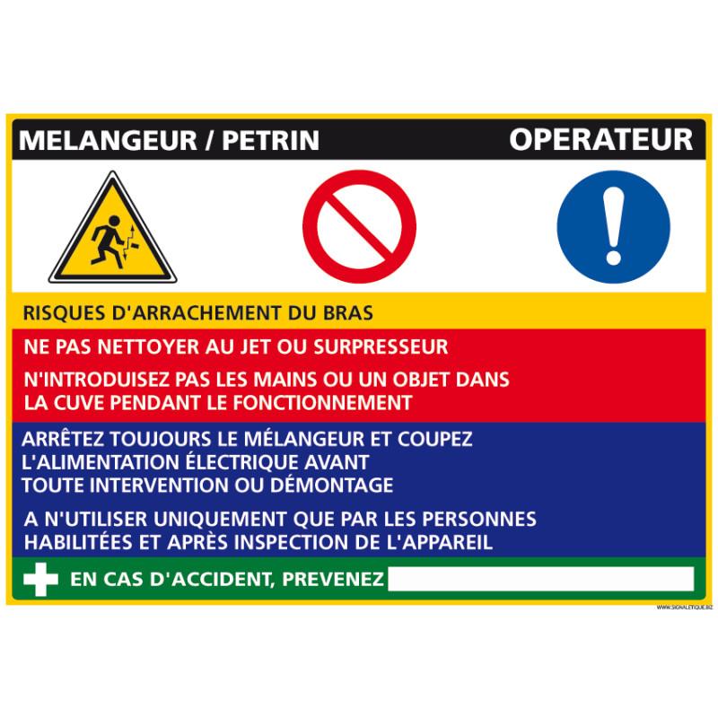 Panneau Fiche de Poste Mélangeur/Pétrin (C1087)