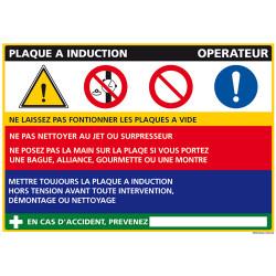 Panneau Fiche de Poste Plaque induction (C1088)