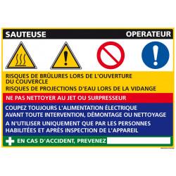 Panneau Fiche de Poste Sauteuse (C1091)