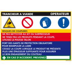 Panneau Fiche de Poste Trancheur Viande (C1092)