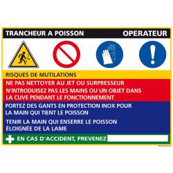 Panneau Fiche de Poste Trancheur poisson (C1093)