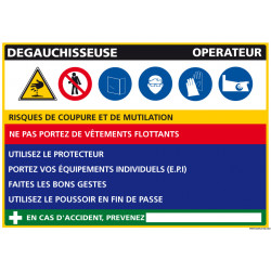 Panneau Fiche de Poste Dégauchisseuse (C1100)
