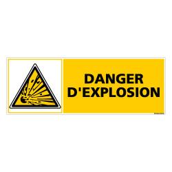 Panneau DANGER D'EXPLOSION (C0362)