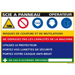 Panneau Fiche de Poste Scie Panneau (C1124)