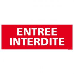 """Panneau de signalisation incendie """"Entree Interdite"""" (A0090)"""