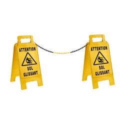Chevalet de signalisation avec chaines (W0034)