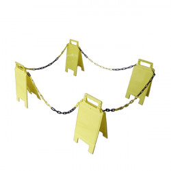 Chevalet de signalisation avec chaines (W0035)
