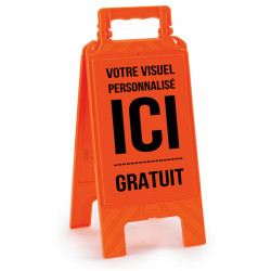 CHEVALET DE SIGNALISATION ORANGE (W0582)