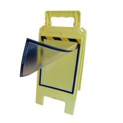 Chevalet de Signalisation Jaune avec Portes Affiches A4 Recto/Verso Jaune et Noir (WCHDUR_JN)