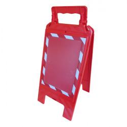 Chevalet de Signalisation Rouge avec Portes Affiches A4 Recto/Verso Rouge et Blanc (WCHDUR_RB)
