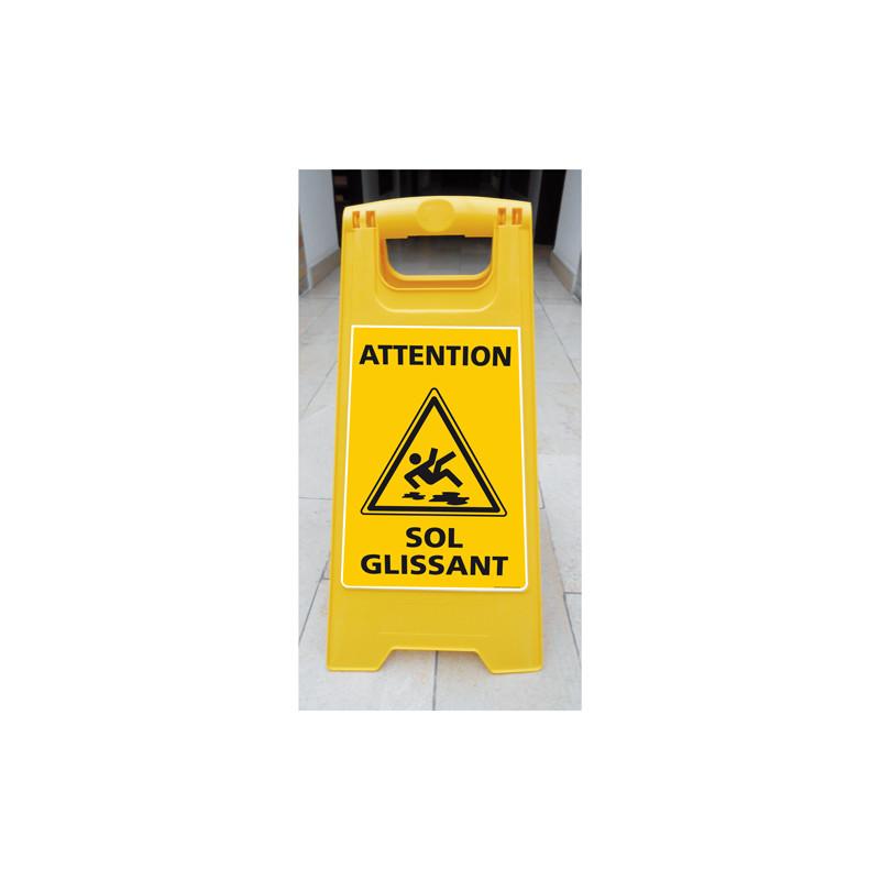 CHEVALET ATTENTION SOL GLISSANT (WPSG680I)