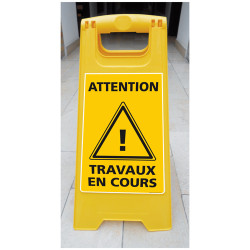 CHEVALET ATTENTION TRAVAUX EN COURS (WPSG681I)