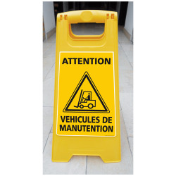 CHEVALET ATTENTION VEHICULES DE MANUTENTION (WPSG682I)