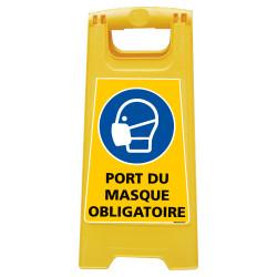 CHEVALET DE SIGNALISATION PORT DU MASQUE OBLIGATOIRE (WPSG697I)