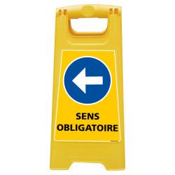 CHEVALET DE SIGNALISATION SENS OBLIGATOIRE GAUCHE (WPSG699I)