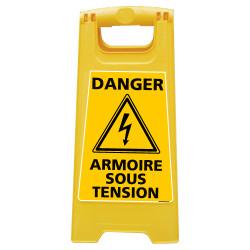 CHEVALET DE SIGNALISATION DANGER ARMOIRE SOUS TENSION (WPSG701I)