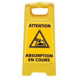 CHEVALET DE SIGNALISATION ATTENTION ABSORPTION EN COURS (WPSG702I)