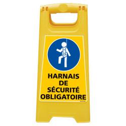 CHEVALET DE SIGNALISATION HARNAIS DE SECURITE OBLIGATOIRE (WPSG703I)