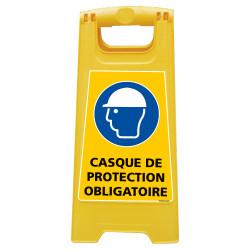 CHEVALET DE SIGNALISATION CASQUE DE PROTECTION OBLIGATOIRE (WPSG705I)