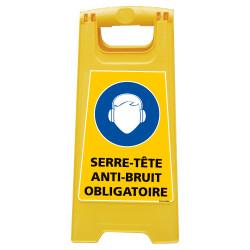 CHEVALET DE SIGNALISATION SERRE-TTE ANTI-BRUIT OBLIGATOIRE (WPSG706I)