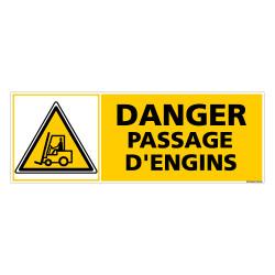 Panneau DANGER PASSAGE D'ENGINS (C0373)