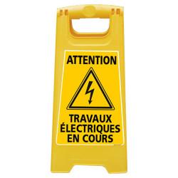CHEVALET DE SIGNALISATION - ATTENTION TRAVAUX ELECTRIQUES EN COURS (WPSG710I)