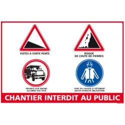 Panneau chantier interdit au public (A0361)