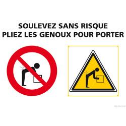 PANNEAU DE POSTURES: SOULEVEZ SANS RISQUES (A0523)