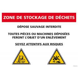 Panneau de signalisation Stockage Déchets (A0565)
