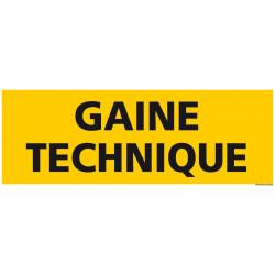 PANNEAU DE SIGNALISATION GAINE TECHNIQUE (C1204)