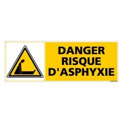 Panneau DANGER RISQUE D'ASPHYXIE (C0376)