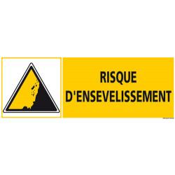 PANNEAU DE SIGNALISATION RISQUE D'ENSEVELISSEMENT (C1265)