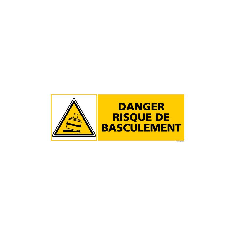 Panneau DANGER RISQUE DE BASCULEMENT (C0377)