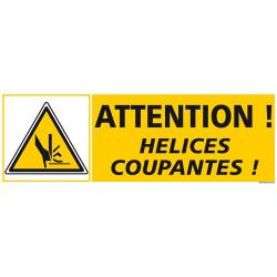 PANNEAU DE SIGNALISATION ATTENTION HELICES COUPANTES (C1270)