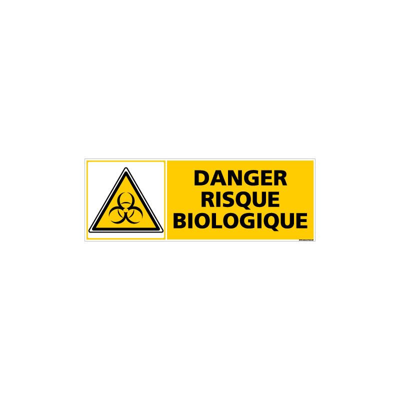 Panneau DANGER RISQUE BIOLOGIQUE (C0378)