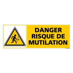 Panneau DANGER RISQUE DE MUTILATION (C0379)