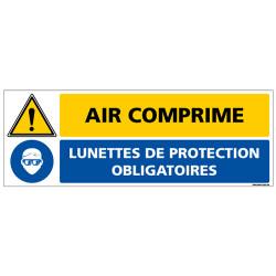 Panneau de signalisation - Air comprimé lunettes de protection obligatoires (C1339)