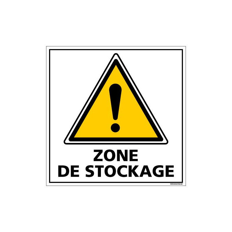 PANNEAU DE SIGNALISATION - ZONE DE STOCKAGE (C1380)