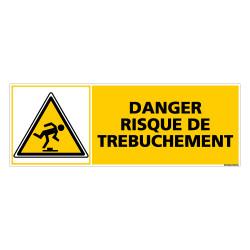 Panneau DANGER RISQUE DE TREBUCHEMENT (C0380)