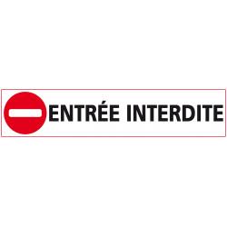 Signalisation ENTREE INTERDITE (D0878)