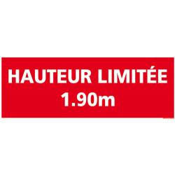 PANNEAU DE SIGNALISATION HAUTEUR LIMITEE (D0913)